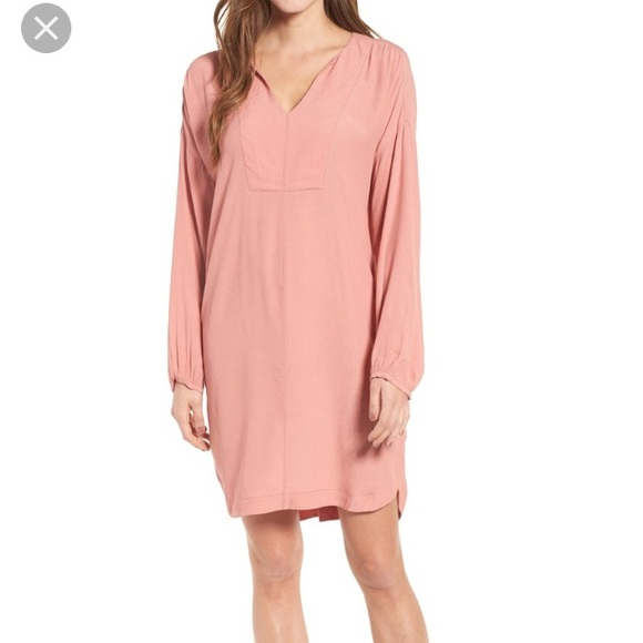 0cfa1e848a6 Madewell Dresses | Long Sleeve Tunic Dress Xs S Pink | Poshmark